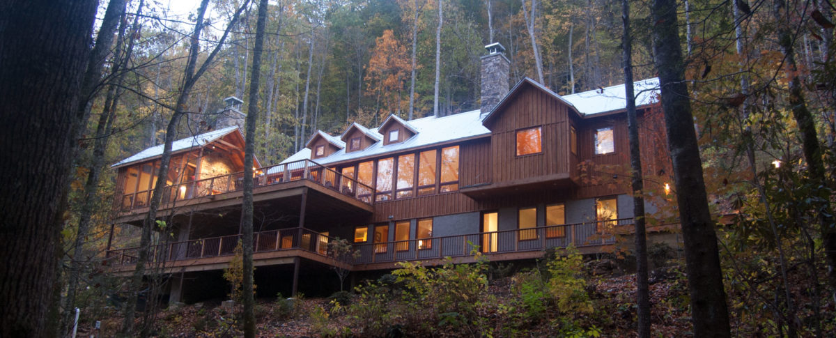 Modern mountain home reflects natural enviornment
