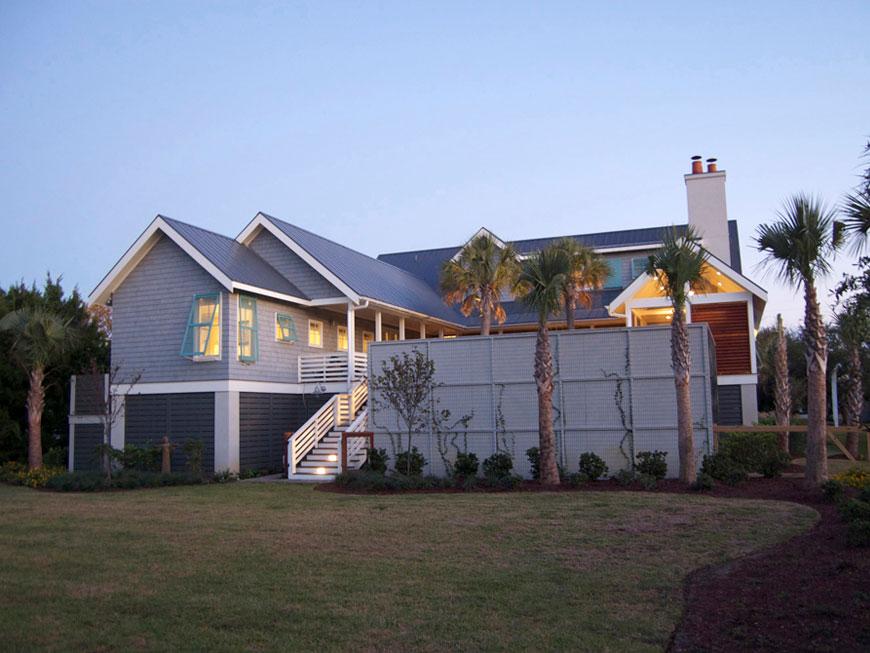 View from rear yard South Carolina Modern Vernacular Home