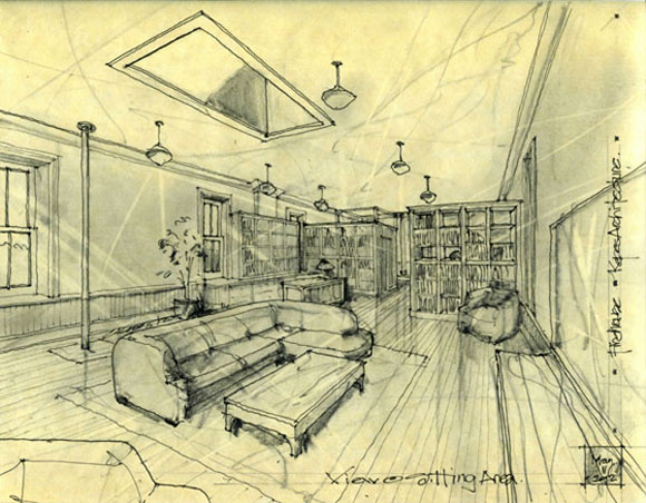 Design drawing for architectural remodel of home
