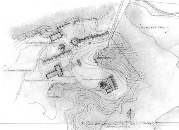 Aerial architectural sketch by Kepes Architecture