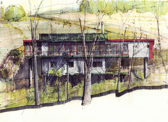 Kepes Architecture exterior sketch