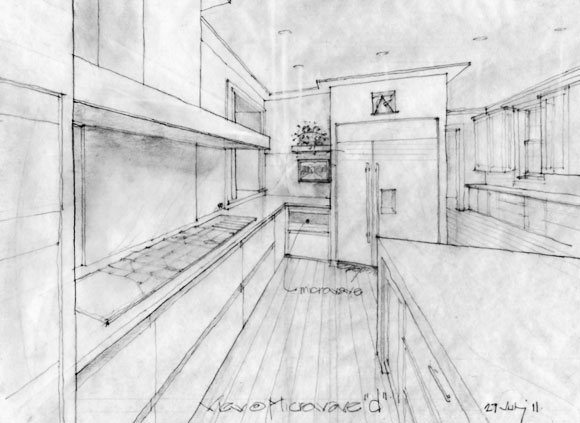 Interior architectural drawing